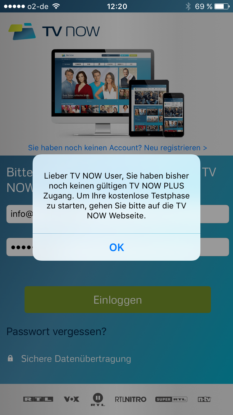 tv now mediatheken app von rtl nur mit abo iphonemagazin. Black Bedroom Furniture Sets. Home Design Ideas