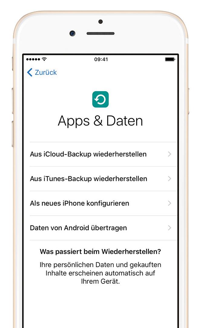 wie funktioniert die app zum übertragen vondaten android auf iphone